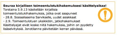 Tampereella nettisivuilta löytyy tällainen.